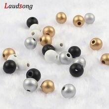 Diy 50-500 pces 6 8 10 12mm preto branco natural contas de madeira bola redonda solta contas espaçador de madeira para jóias que fazem acessórios
