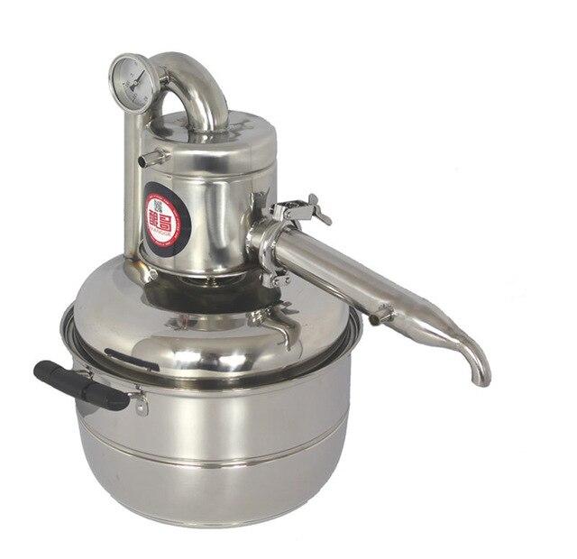 Acier inoxydable de haute qualité 10L nouvelle machine de brassage de vin à usage domestique distillateur de vin faire du vin et de l'huile de fleur vous-même
