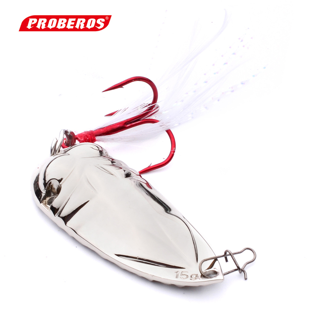 5PC Fishing Bait High Quality Spoon Lures 10g Silver Color Fishing Tackle with 4# Hooks Metal Fishing Lures