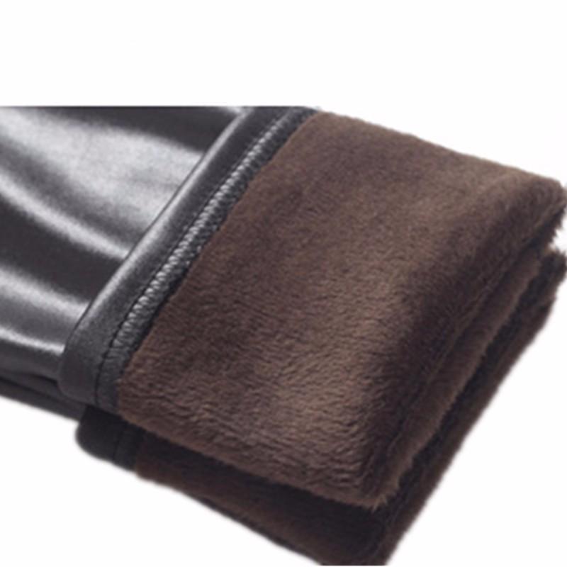 Plus-Size-S-XXXL-Black-Women-Velvet-Warm-Leggings-Autumn-Winter-Fashion-Faux-Leather-Mid-Waist
