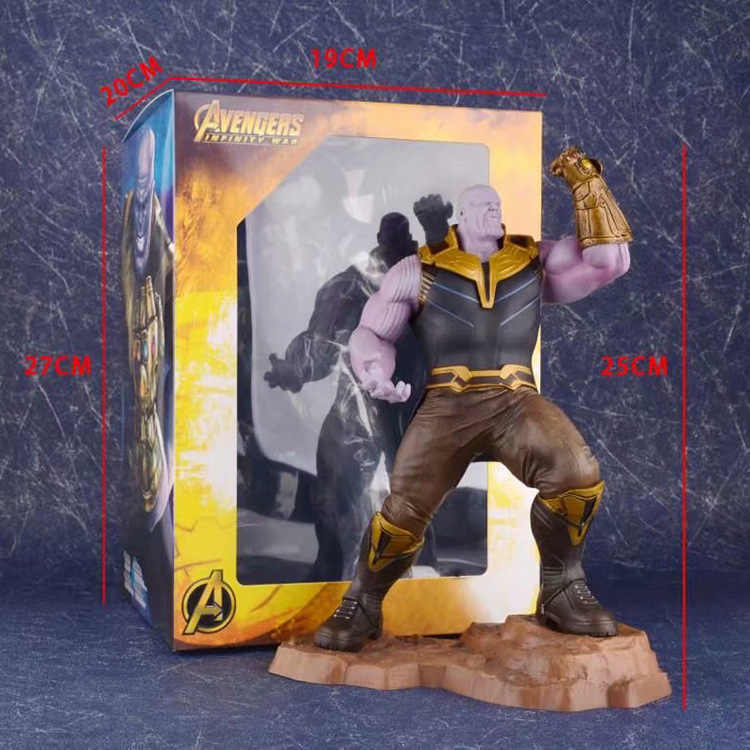 Vogue Série The Avengers Marvel Super Hero Thanos com a Infinity Gauntlet End Game Kotobukiya ARTFX + Figura Modelo Brinquedos 25 cm