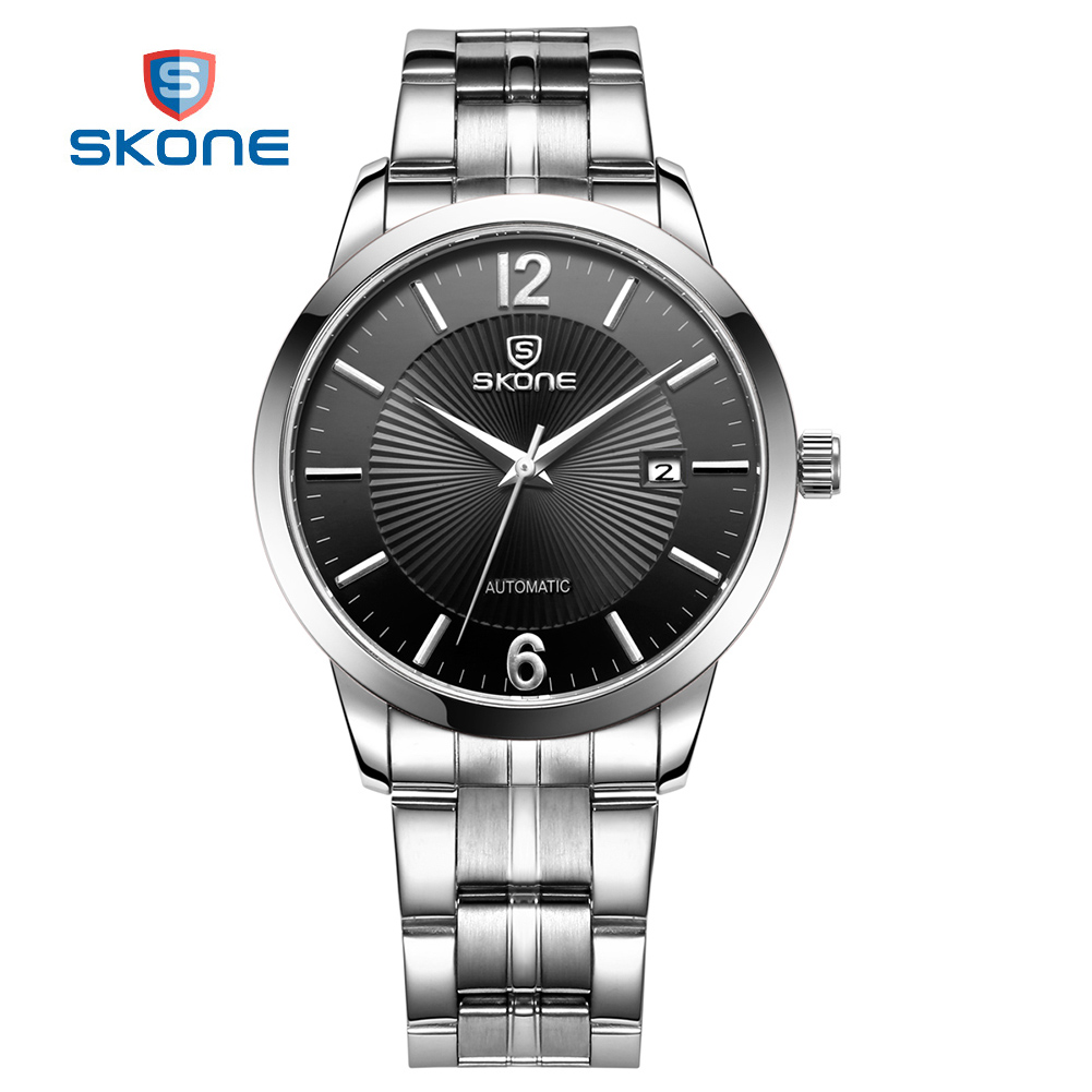 SKONE Business Watches Men Automatic Watch Top Brand Luxury Full Steel Watch Automatic Men's Clock Male Mechanical Wrist Watches boyfriend jeans women pencil pants trousers ladies casual stretch skinny jeans female mid waist elastic holes pant fashion 2016 page 4