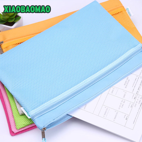 A4 A5 B5 Oxford File Folder Zipper Waterproof Bag Paper File Bags Document Folders Papelaria Cute Korean Stationery Supplies