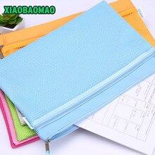 A4 A5 B5 Oxford File Folder Zipper Waterproof Bag Paper File Bags Document Folders Papelaria Cute Korean Stationery Supplies