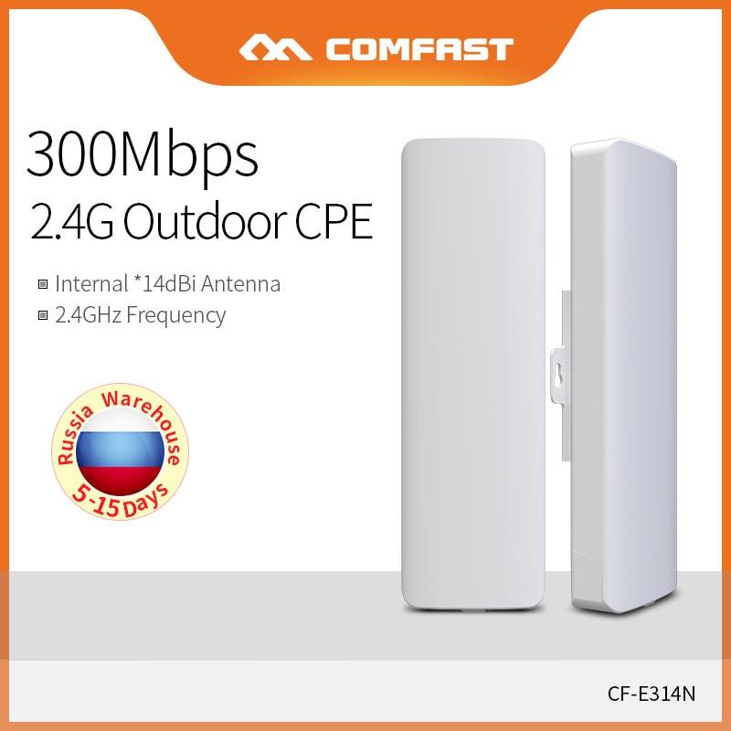 Point d'accès WIFI COMFAST 2.4G pont extérieur sans fil 300 Mbps extérieur CPE amplificateur de Signal WIFI Extender CF-E314N-V2