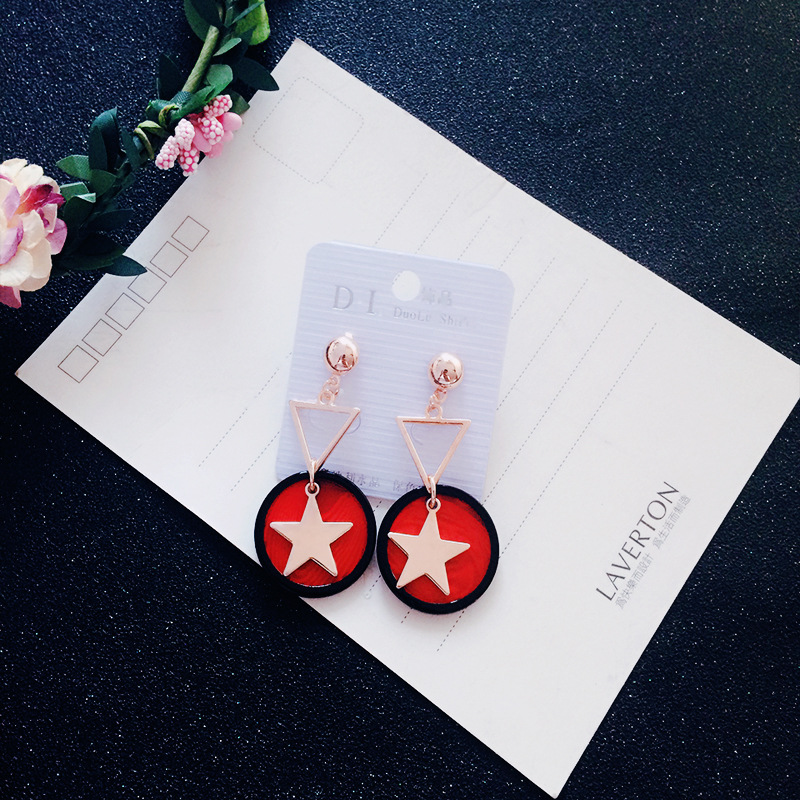 High Quality Simulated Pearl Fur Ball Flower Star Triangle Shape Dangle Drop Earrings fo ...
