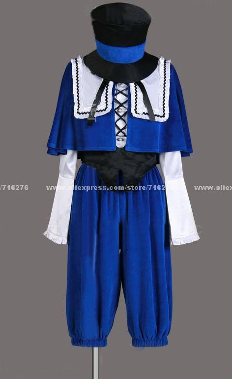 Free Shipping New Cheap Cosplay Costume Wholesale/Retail Rozen Maiden Souseiseki Lapislazuli Party Dress Lolita