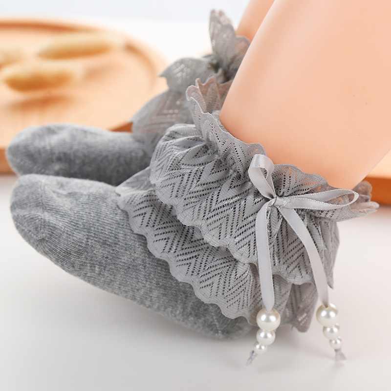 10 пар/лот, 2019 кружевные носки для девочек, белые короткие носки, детские летние носки с бантиками, детская одежда для лет