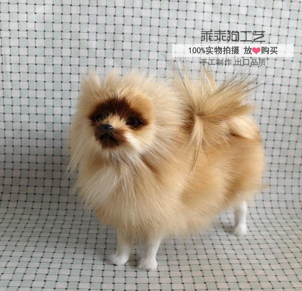 simulation cute standing pomeranian 21x8x10cm model polyethylene&furs dog model home decoration props ,model gift d824 simulation cute squatting cat 35x28x26cm model polyethylene