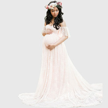 dd5179be7a781 Long Maternity Photography Props Pregnancy Dress Photography Maternity  Dresses For Photo Shoot Pregnant Dress Lace Maxi