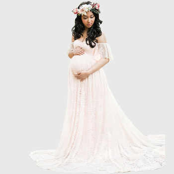 Long Maternity Photography Props Pregnancy Dress Photography Maternity Dresses For Photo Shoot Pregnant Dress Lace Maxi Gown - DISCOUNT ITEM  20 OFF Mother & Kids