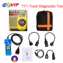 Hot selling Truck Diagnostic Tool T71 For Heavy Truck And Bus OBD2 Code Reader free shipping