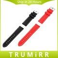 Universal de Caucho de Silicona Venda de reloj 20mm 22mm Reemplazo Del Reloj de La Venda de La Pulsera Con Reloj de Herramientas y Barra de Resorte Negro rojo