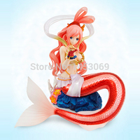 Free Shipping One Piece Shirahoshi sexy Cute Figure With Luffy in Her Hand Dolls Anime Action Figure Toy