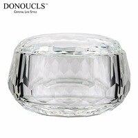 Donoucls Cut Crystal Candy/Tuerca Tazón Caja De Joyería de Las Mujeres Adornos Navideños Para Ho con Caja de Regalo Grande 7.5 cm X 12 cm Claro