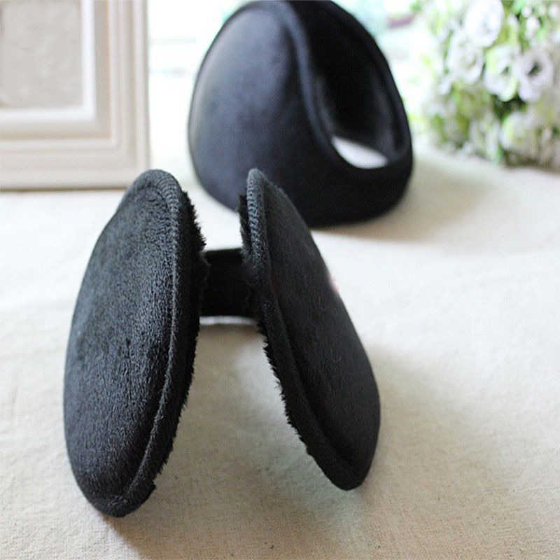 New Men Style Black Fleece Earmuff Winter Ear Muff Wrap Band Warmer Grip Earlap Comfortable Earmuff Gift