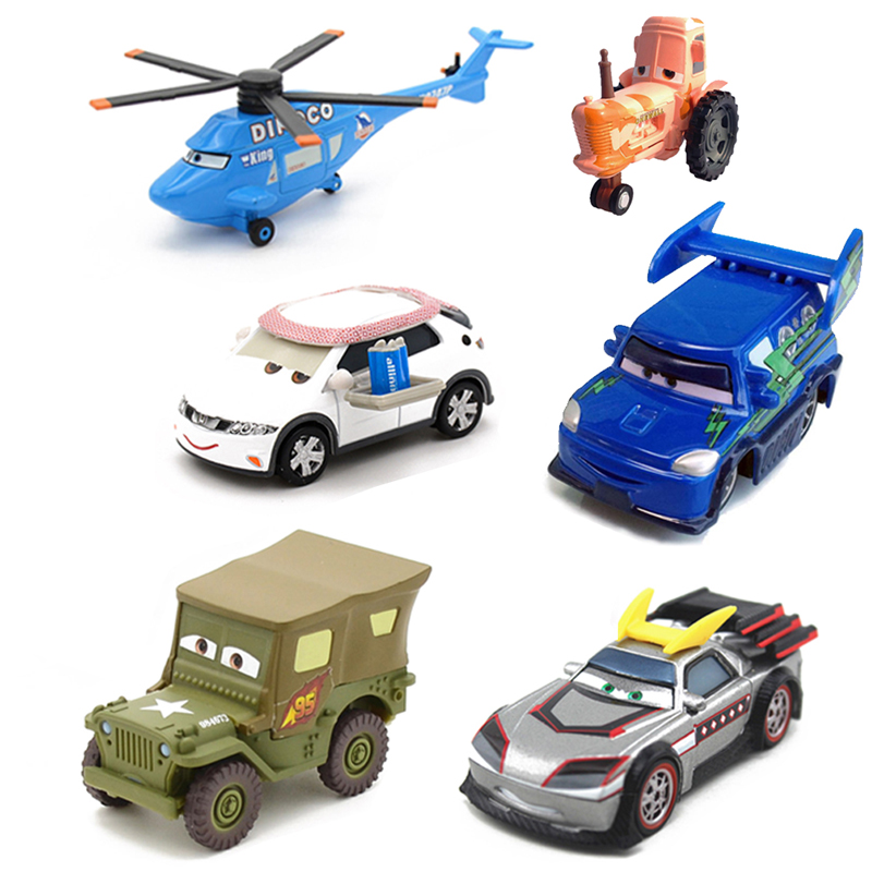 Disney Pixar Cars Metal Car 14Style Sarge Lizzie 1:55 Diecast Metal Alloy Car Toys Birthday Gift For Kids Children Cars Toys цена