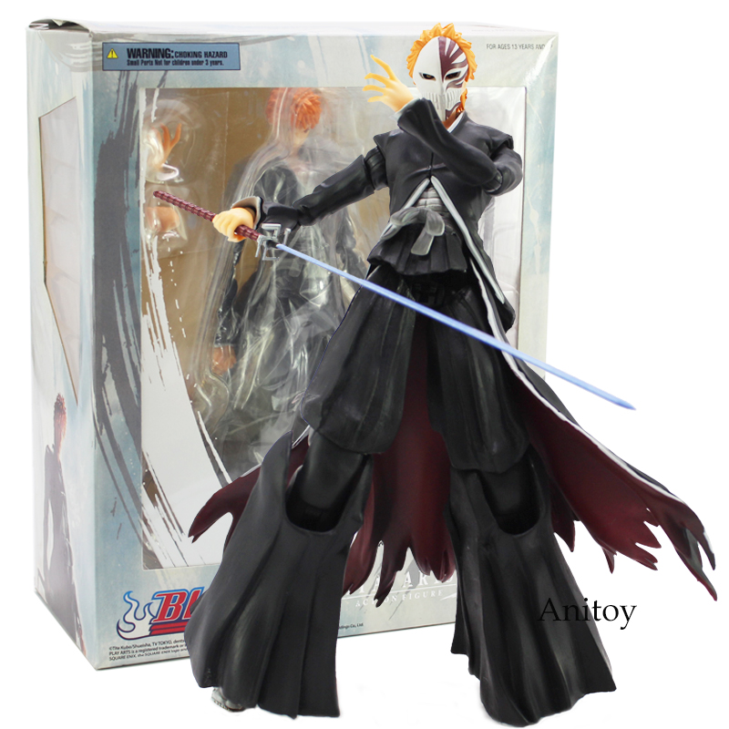 Play Arts Kai BLEACH Kurosaki Ichigo PVC Action Figure Collectible Model Toy 27.5cm fongimic summer women flat shoes comfortable casual all match beach sandals high quality girl beach flowers elastic band sandals