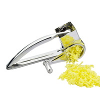 4PCS Creative Stainless Steel Cheese Rotary Graters Hand operated Cheese Knife Butter Cutter Chocolate Fruit Vegetable Slicer