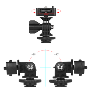 """Image 3 - Andoer Adjustable Cold Hot Shoe Mount Adapter with 1/4"""" Screw for Viltrox DC 90 DC 70 DC 50 Monitor L132T L116T LED Video Light"""