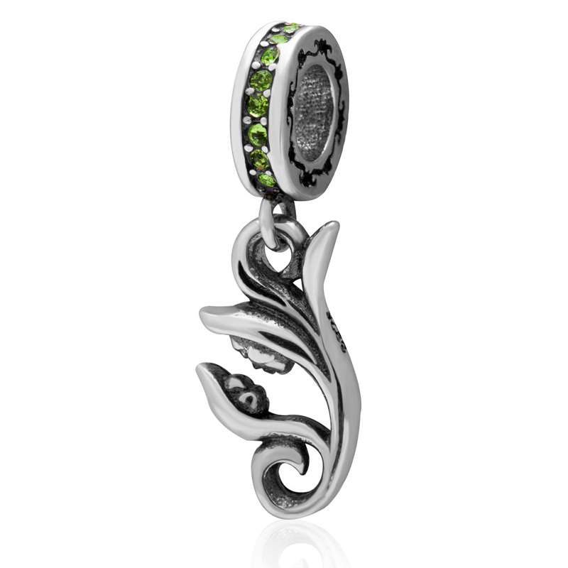 100% 925 sterling silver Flower Fairy Charm pendant with CZ stone DIY Jewelry Beads Fit for Pandora Charms Bracelet