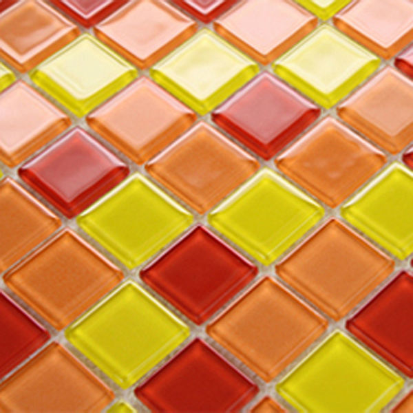 Gl Mosaic Backsplash Tile Stained Tiles 3303 Swimming Pool Red Bathroom Wall Kitchen