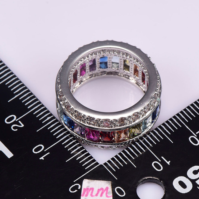 Multi Colour Crystal Zircon Ring