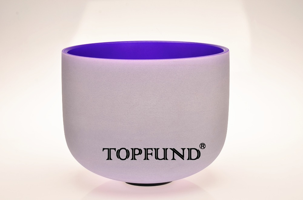 TOPFUND Perfect Pitch B Crown Chakra Frosted  Quartz Purple Color Crystal Singing Bowl 10 With Free Mallet and O-Ring 2016 new 8 ports 2output composite 3 rca video audio av switch switcher box selector 8 in1 out 8x1 8in 2out 8x2 for hdtv lcd dvd