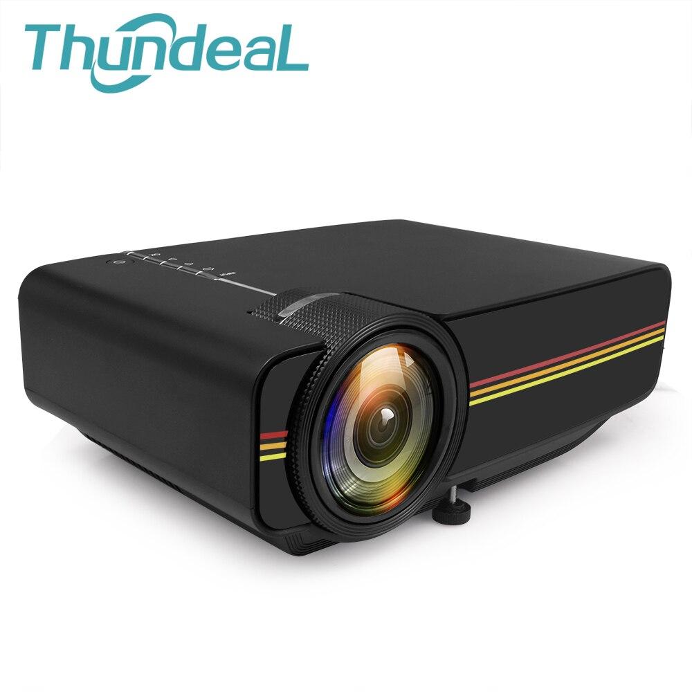Sincronia Exibição ThundeaL YG400 up YG400A Mini Projetor Com Fio mais estável do que o WI-FI Beamer Para Home Theatre Movie AC3 HDMI VGA USB