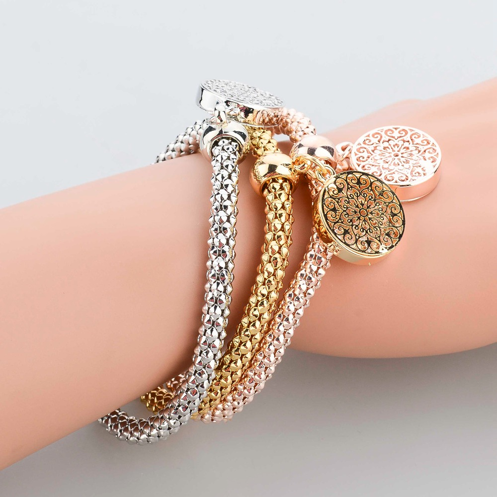LongWay 2018 New Fashion Bracelets Bangles Jewelry Gold Color Chain