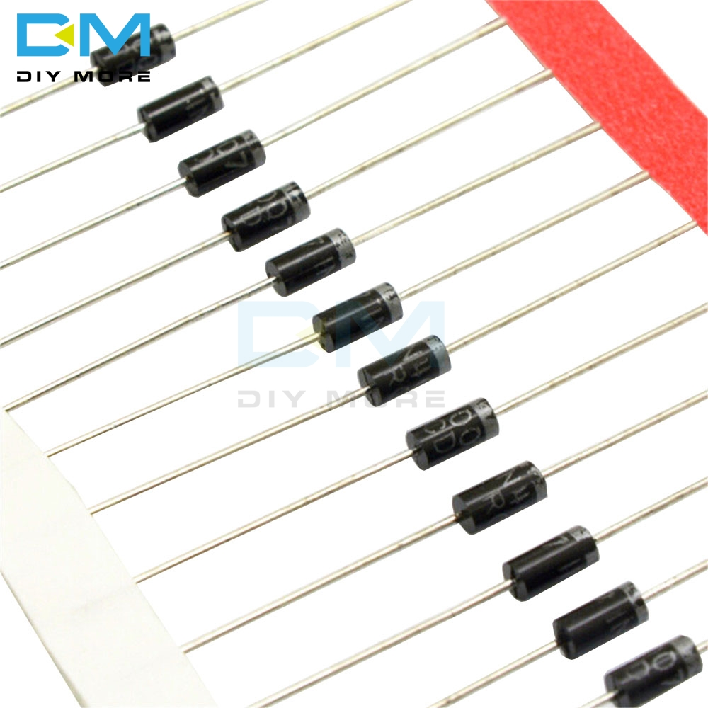 <font><b>100PCS</b></font> 1A 1000V Diode <font><b>1N4007</b></font> IN4007 Standard Recovery Rectifier Diode DO-41 image