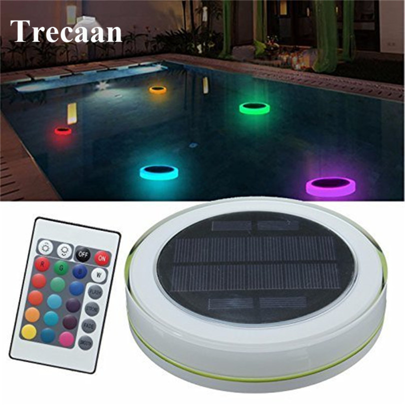 Trecaan Solar LED RGB Swimming Pool Light Garden Party Bar Decoration 7 Color Changing IP68 Waterproof Pool Pond Floating lamp 30cm color changing remote control party pool magic waterproof rgb night lighting lamp globe