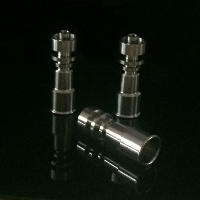 Grade2 Female 10mm&14mm and 14mm&18mm 2 in 1 Double Function Domeless Titanium Nails for glass bongs glass bubbler  hookah  0C 3
