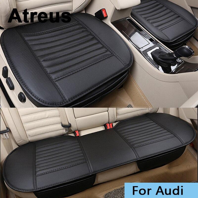 Atrée Car Styling Quatre Saisons Siège En Cuir Couvre Pour Audi A3 A4 B6 B8 B7 B5 A6 C5 C6 Q5 a5 Q7 TT A1 S4 S5 S6 S8 Accessoires