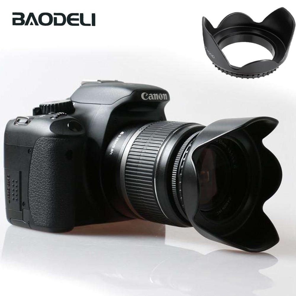BAODELI 49 52 55 58 62 67 72 77 82 mm lentes capucha para Canon 77d 100d Sony A6000 Nikon Fujifilm D3000 D3500 D5100 D5600 Accesorios
