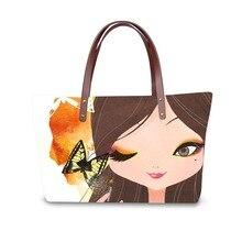 Handbag for Women 2019 Fashion Bags Shoulder Bag Beach Bag 3D Beautiful Girls Print Pattern Design Tote Bolso sweet lemon print and cloth design tote bag for women