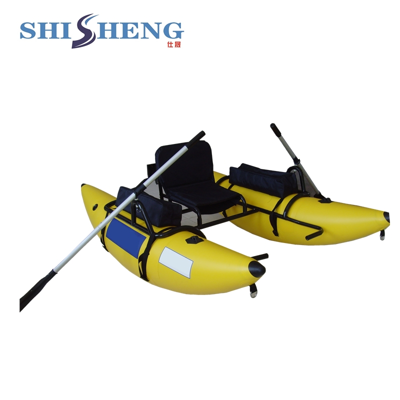 PVC inflatable fishing boat with ce certification/yellow inflatable pontoon boat fishing boat boat