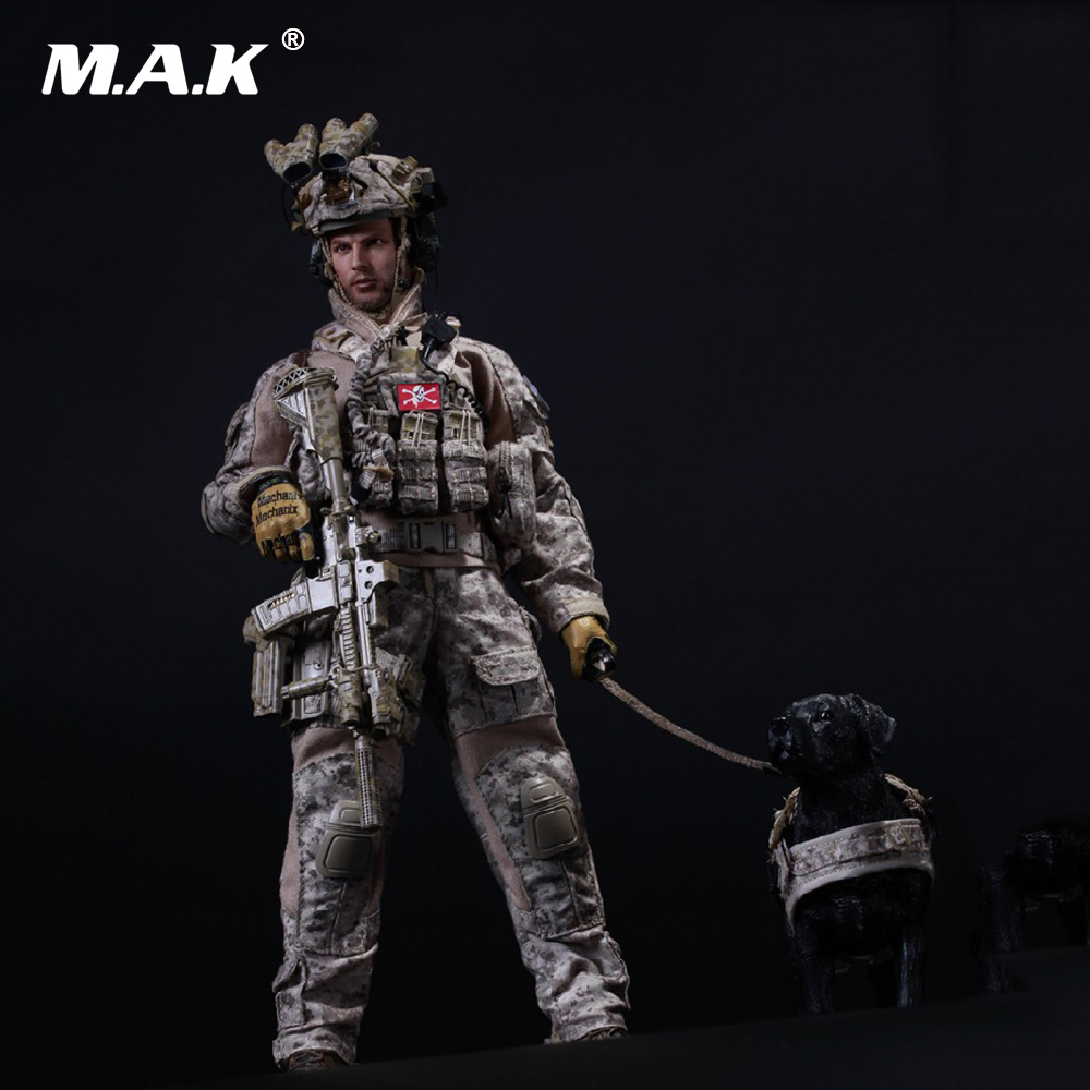 1/6 US Navy SEAL Team Six DEVGRU Halo Action Figure With DOG Colletible Model Toys цена