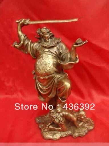 Chinese Exorcist Zhong Kui Bronze Statue Figure 10HighChinese Exorcist Zhong Kui Bronze Statue Figure 10High