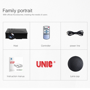 Image 5 - Original UNIC UC68 UC68H Portable LED Projector 1800 Lumens 80 110 ANSI HD 1080p Full HD Video Projector Beamer for Home Cinema