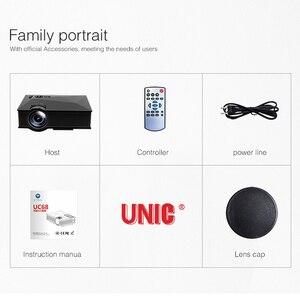 Image 5 - الأصلي UNIC UC68 UC68H المحمولة جهاز عرض (بروجكتور) ليد 1800 لومينز 80 110 ANSI HD 1080p كامل HD عارض فيديو متعاطي المخدرات للسينما المنزلية
