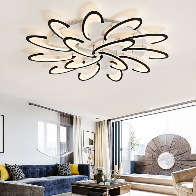 Lican Modern Led Ceiling Chandelier Lights For Living Room Bedroom Dining Study White Black Ac85 265v Chandeliers Fixtures