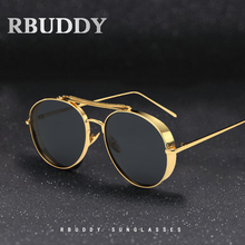 Steampunk Vintage Sunglass Fashion round sunglasses women brand designer polarized sun glasses men oculos de sol feminina