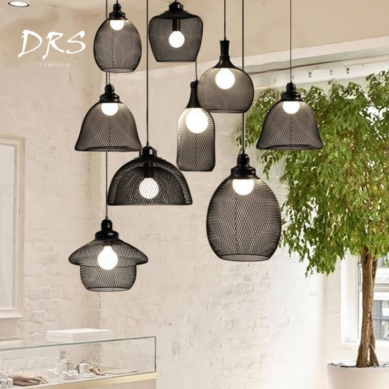 Moderne noir lampes suspendues Vintage fer Restaurant Bar hôtel maison décorer industriel lampes suspendues Loft déco luminaires