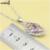 XUTAAYI Flores de Moda 925 Plata de La Joyería Para las mujeres Multicolor Piedras Creado Topacio Boda Dulce Collar/Anillos/Pendientes