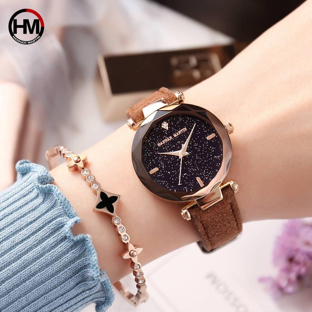 Women Watches Luxury Brand Quartz Fashion Jewelry Ladies Wristwatches Star Dial Rhinestone Leather Female Clock Relogio Feminino цена и фото
