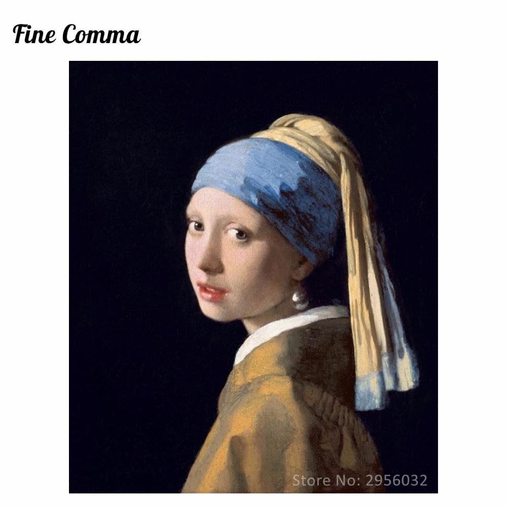 Girl with Pearl Earring 1665(Meisje met de parel) by