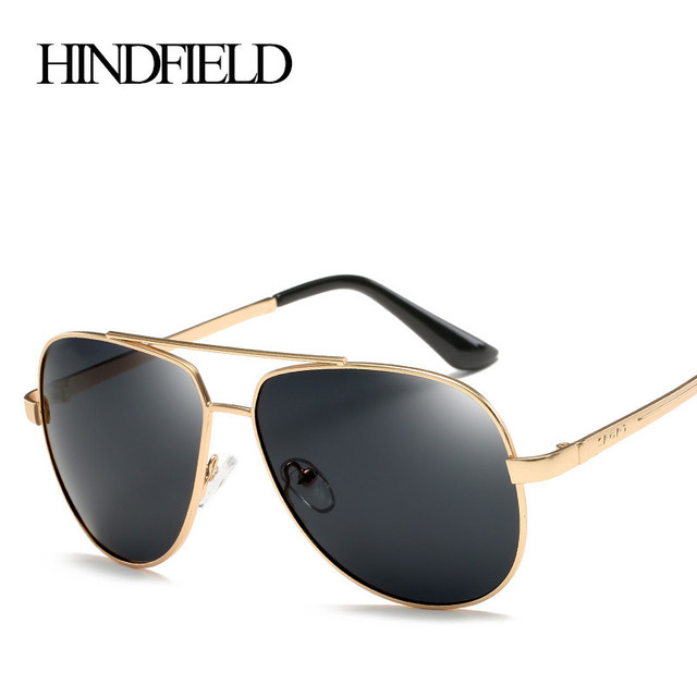 42fec4df1bd HINDFIELD Polarized Sunglasses Men Brand Design Driving Metal Sport Sun  Glasses For Men Oculos Eyewear Accessories