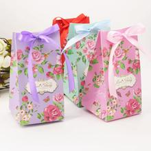 50pcs/lot Blooming Peony Large Capacity Box Wedding Party Gift Candy Events Supplies Paper for Guest