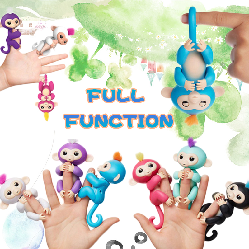 Glückliche affe pack Finger baby Affe Rose Interaktive Baby Haustier Intelligente Spielzeug Spitze Affe Intelligente Elektronische Haustier finger affe